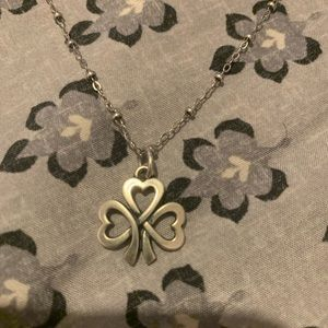 James Avery chain with shamrock charm